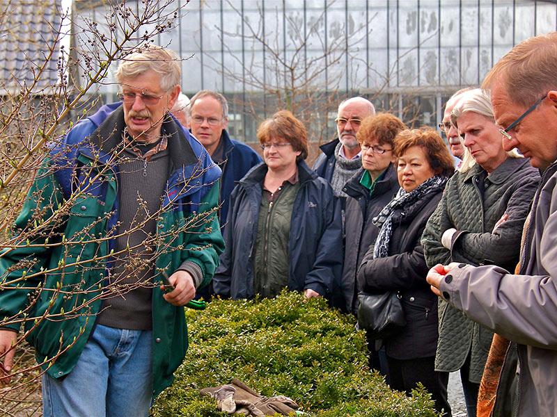 Snoeicursus - Experts op dit gebied laten zowel in theorie als in de praktijk zien hoe men het beste te werk kan gaan bij diverse soorten bomen en struiken.